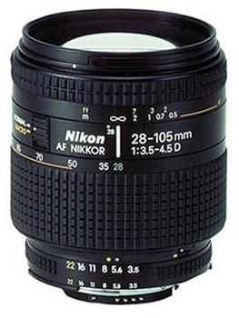 Nikon AF NIKKOR 28-105 mm F3.5-4.5 D IF 62 mm Objectif (adapté à Nikon F) noir