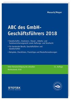 ABC des GmbH-Geschäftsführers 2018 - Gerhard Meyer  [Taschenbuch]
