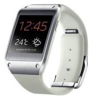 Samsung Galaxy Gear 41,4mm argento con cinturino in gomma beige