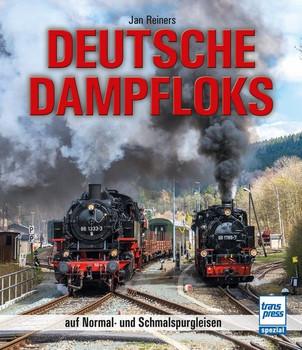 Deutsche Dampfloks auf Normal- und Schmalspurgleisen - Jan Reiners  [Gebundene Ausgabe]