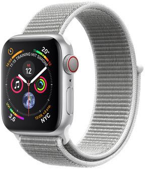 Apple Watch Series 4 40mm caja de aluminio en plata y correa Loop deportiva en color nácar [Wifi + Cellular]
