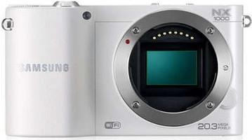 Samsung NX1000 Cuerpo blanco
