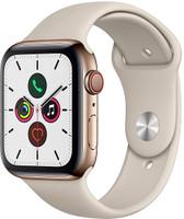 Apple Watch Series 5 44 mm boîtier en acier inoxydable or et bracelet sport stein [Wi-Fi + Cellulaire]