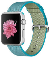 Apple Watch Sport 42 mm grise bracelet en nylon tissé  azur [Wi-Fi]