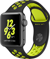 Apple Watch Nike+ Series 2 38mm Caja de aluminio en gris espacial con correa Nike Sport negra volt [Wifi]