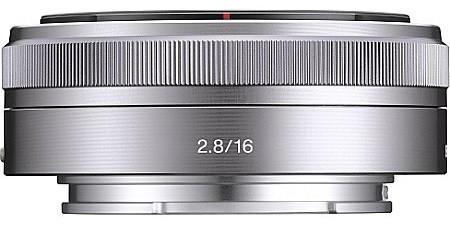 Sony E 16 mm F2.8 49 mm Obiettivo (compatible con Sony E-mount) argento