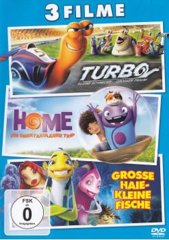 Turbo - Kleine Schnecke, Grosser Traum / Home - Ein Smektakulärer Trip / Grosse Haie - Kleine Fische [3 DVDs]