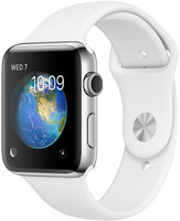 Apple Watch Series 2 42mm Caja de acero inoxidable plata con correa deportiva blanca [Wifi]