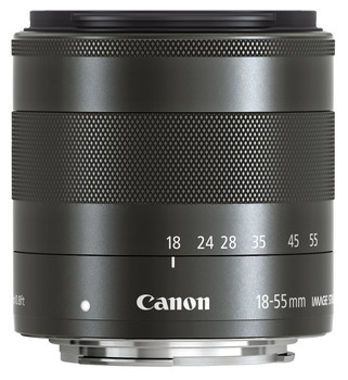 Canon EF-M 18-55 mm F3.5-5.6 IS STM 52 mm Objetivo (Montura Canon EF-M) negro