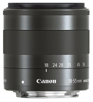 Canon EF-M 18-55 mm F3.5-5.6 IS STM 52 mm Objectif (adapté à Canon EF-M) noir