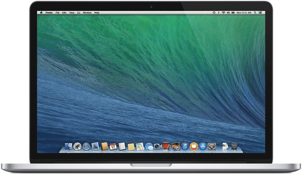 Apple MacBook Pro 15.4 (retina-display) 2.4 GHz Intel Core i7 8 GB RAM 256 GB SSD [Early 2013, QWERTY-toetsenbord]