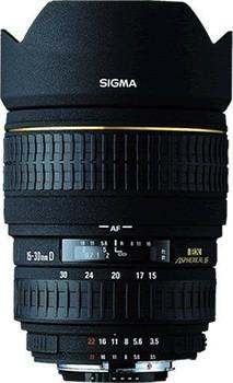 Sigma 15-30 mm F3.5-4.5 ASPH. DG EX IF 82 mm Objectif (adapté à Canon EF) noir