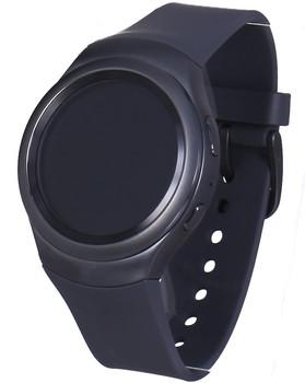 Samsung Gear S2 30,2 mm zwart met een silicone bandje donkergrijs [wifi]