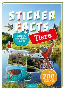Stickerfacts Tiere. Mit über 200 Stickern - Miriam Scholz  [Taschenbuch]