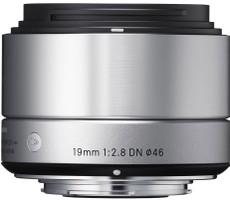 Sigma A 19 mm F2.8 DN 46 mm Objectif (adapté à Micro Four Thirds) argent