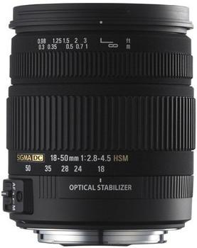 Sigma 18-50 mm F2.8-4.5 DC HSM OS 67 mm Obiettivo (compatible con Canon EF) nero