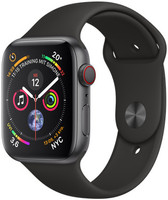 Apple Watch Serie 4 44 mm alloggiamento in alluminio space grigio con Loop sportivo nero [Wi-Fi + Cellular]