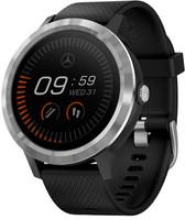 Garmin Vivoactive 3 30,4 mm argent et bracelet en silicone noir [Mercedes Benz Edition]
