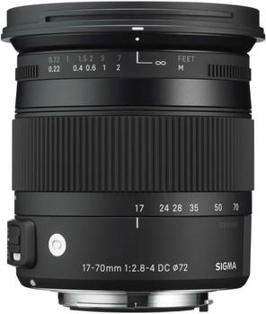 Sigma C 17-70 mm F2.8-4.0 DC HSM OS Macro 72 mm filter (geschikt voor Canon EF) zwart