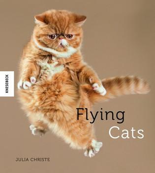 Flying Cats. Katzen in der Luft - Julia Christe  [Gebundene Ausgabe]