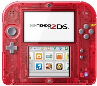 Nintendo 2DS transparant rood