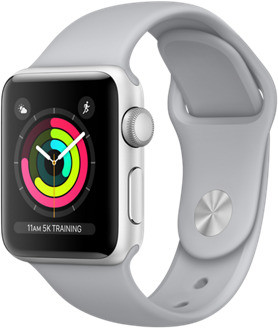 Apple Watch Series 3 38mm Caja de aluminio en plata con correa deportiva gris niebla [Wifi]