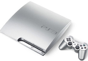 Sony PlayStation 3 slim 320 GB [Modelo K, mando inalámbrico incluído] plata