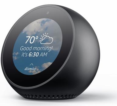 Amazon Echo Spot noir