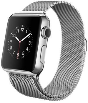 Apple Watch 38mm argento con Loop in maglia milanese argento [Wifi]