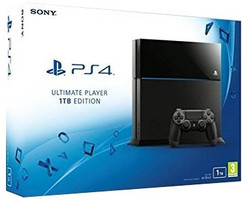 Sony PlayStation 4 1 TB [Ultimate Player Edition incl. draadloze controller] glanzend zwart