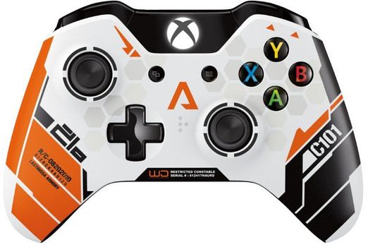 Microsoft Xbox One Wireless Controller [Titanfall Design] weiß orange