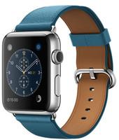 Apple Watch 42 mm grise bracelet Boucle Classique bleu marine [Wi-Fi]