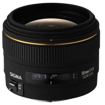 Sigma 30 mm F1.4 DC EX 62 mm filter (geschikt voor Canon EF) zwart