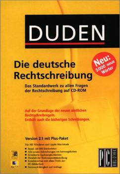 Duden. Die deutsche Rechtschreibung 2.1. CD- ROM für Windows ab 95/ MacOS ab 7.51 (RSR)