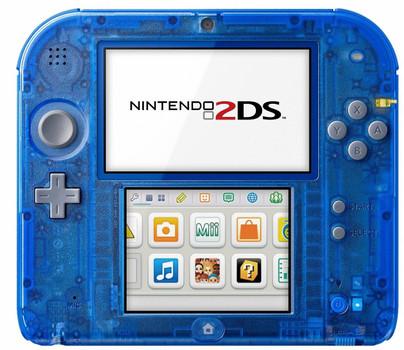Nintendo 2DS azul transparente