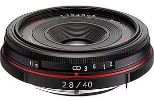 Pentax HD DA 40 mm F2.8 49 mm Objectif (adapté à Pentax K) noir [Édition limitée]