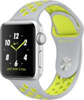 Apple Watch Nike+ Series 2 38mm Caja de aluminio en plata con correa Nike Sport plata amarillo [Wifi]