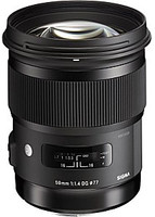 Sigma A 50 mm F1.4 DG HSM 77 mm Objectif (adapté à Sony A-mount) noir