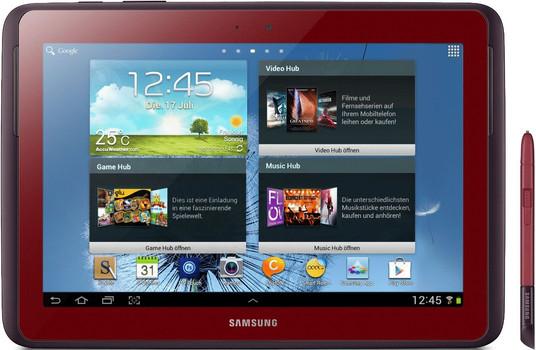 """Samsung N8000 Galaxy Note 10.1 10,1"""" 16GB [wifi + 3G] rood"""