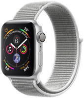 Apple Watch Series 4 40 mm aluminium zilver met geweven sportbandje [wifi] grijs