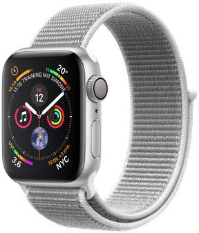 Apple Watch Series 4 40 mm aluminium zilver met geweven sportbandje [wifi] grijs