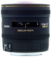 Sigma 4,5 mm F2.8 DC EX HSM Circular-Fisheye (Montura Canon EF) negro