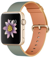 Apple Watch Sport 42mm oro con correa de nailon trenzado oro azul eléctrico [Wifi]