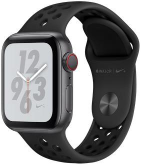 Apple Watch Nike+ Series 4 40 mm aluminium spacegrijs met Nike sportarmband [wifi + cellular] grijszwart