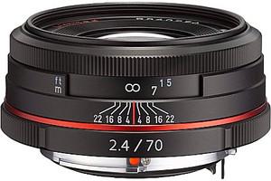 Pentax HD DA 70 mm F2.4 49 mm Obiettivo (compatible con Pentax K) nero [Edizione limitata]