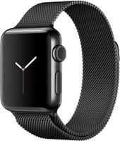 Apple Watch Series 2 38mm Caja de acero inoxidable negro espacial con pulsera Milanese Loop negro espacial [Wifi]