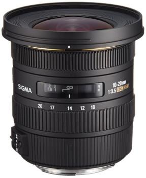 Sigma 10-20 mm F4.0-5.6 DC EX HSM 77 mm filter (geschikt voor Canon EF) zwart