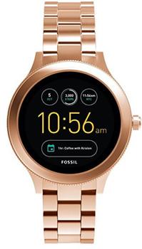 Fossil Q Venture 42mm oro rosa con correa de acero inoxidable oro rosa [Wifi,Tercera generación]