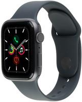 Apple Watch Series 5 40 mm Aluminiumgehäuse space grau am Sportarmband schwarz [Wi-Fi]