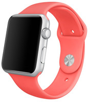 Apple Watch Sport 42mm argento con cinturino Sport rosa [Wifi]